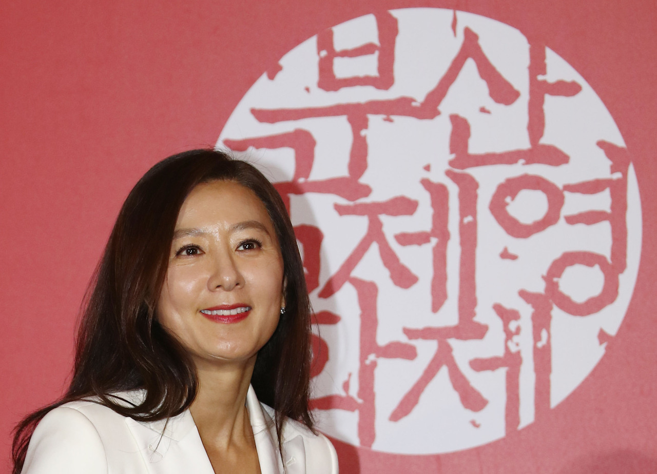 Actress Kim Hee-ae, who starred in the festival's closing movie