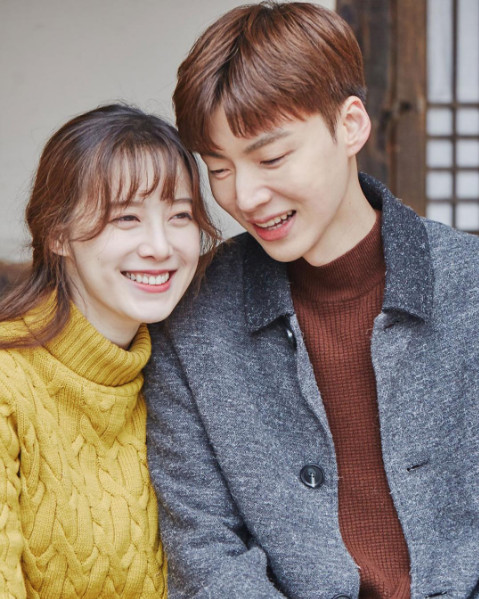 Ku Hye-sun (left) and Ahn Jae-hyun (CJ ENM)