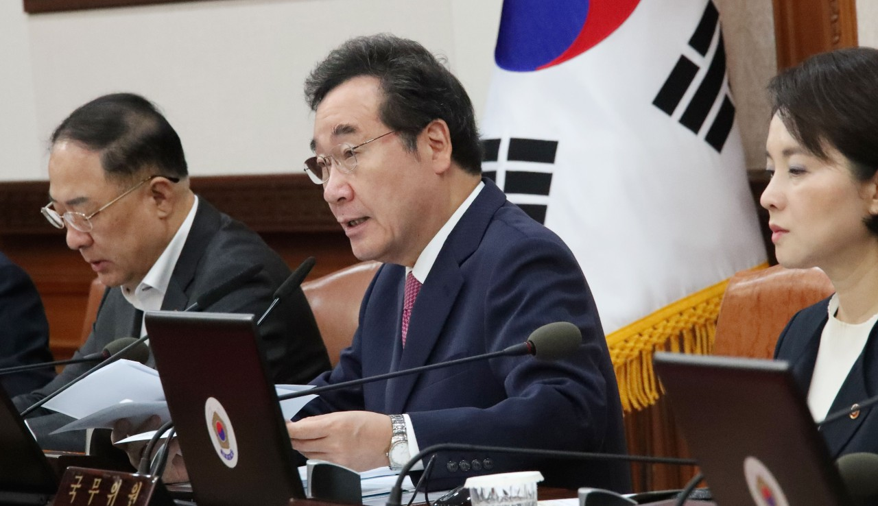 Prime Minister Lee Nak-yon attends the Cabinet meeting on Tuesday. Yonhap