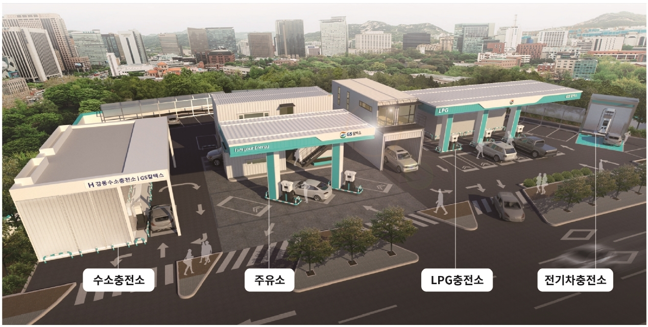 An image of GS Caltex's Total Energy Station planned in Gangdong, Seoul (GS Caltex)