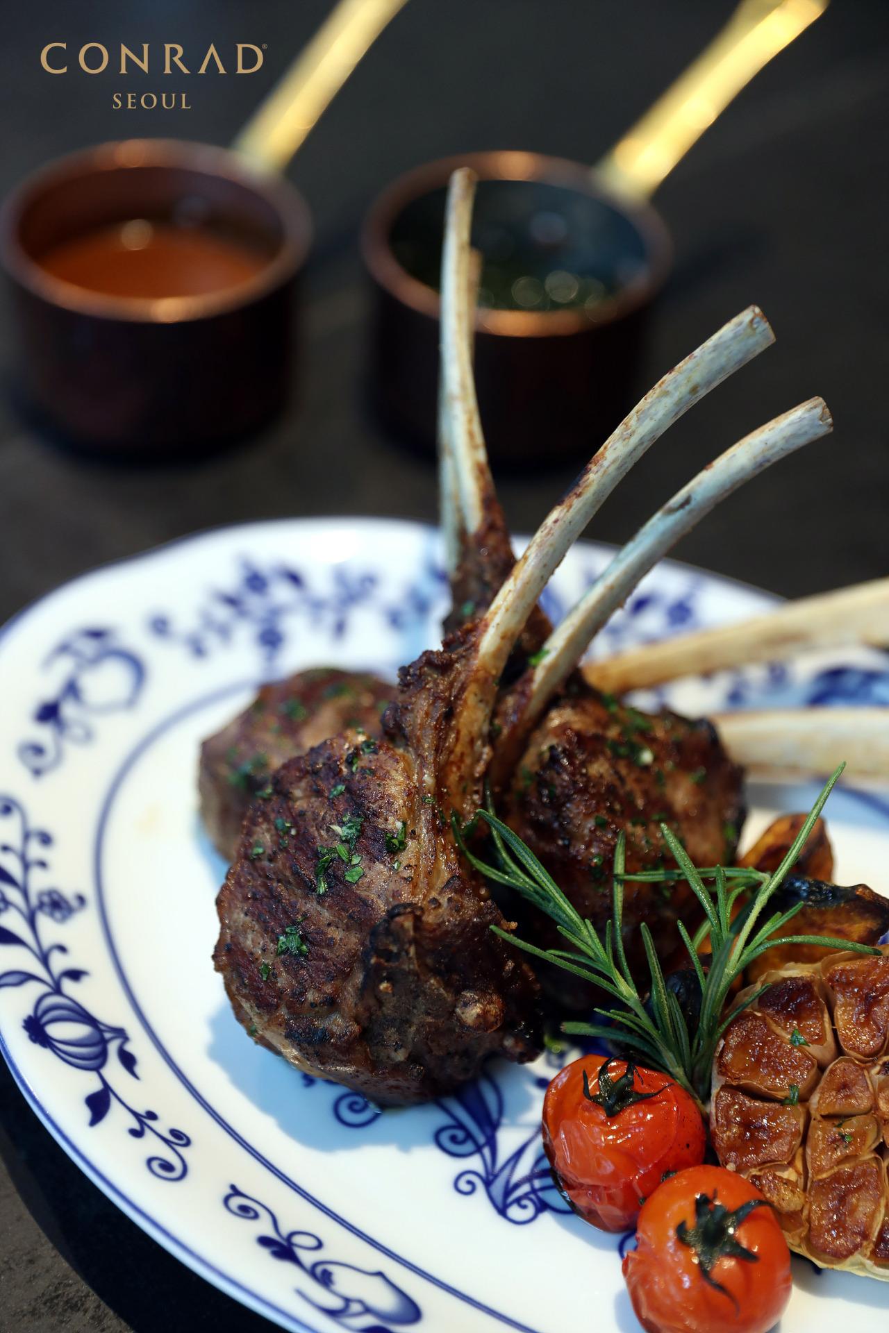 Grilled lamb rack (Conrad Seoul)
