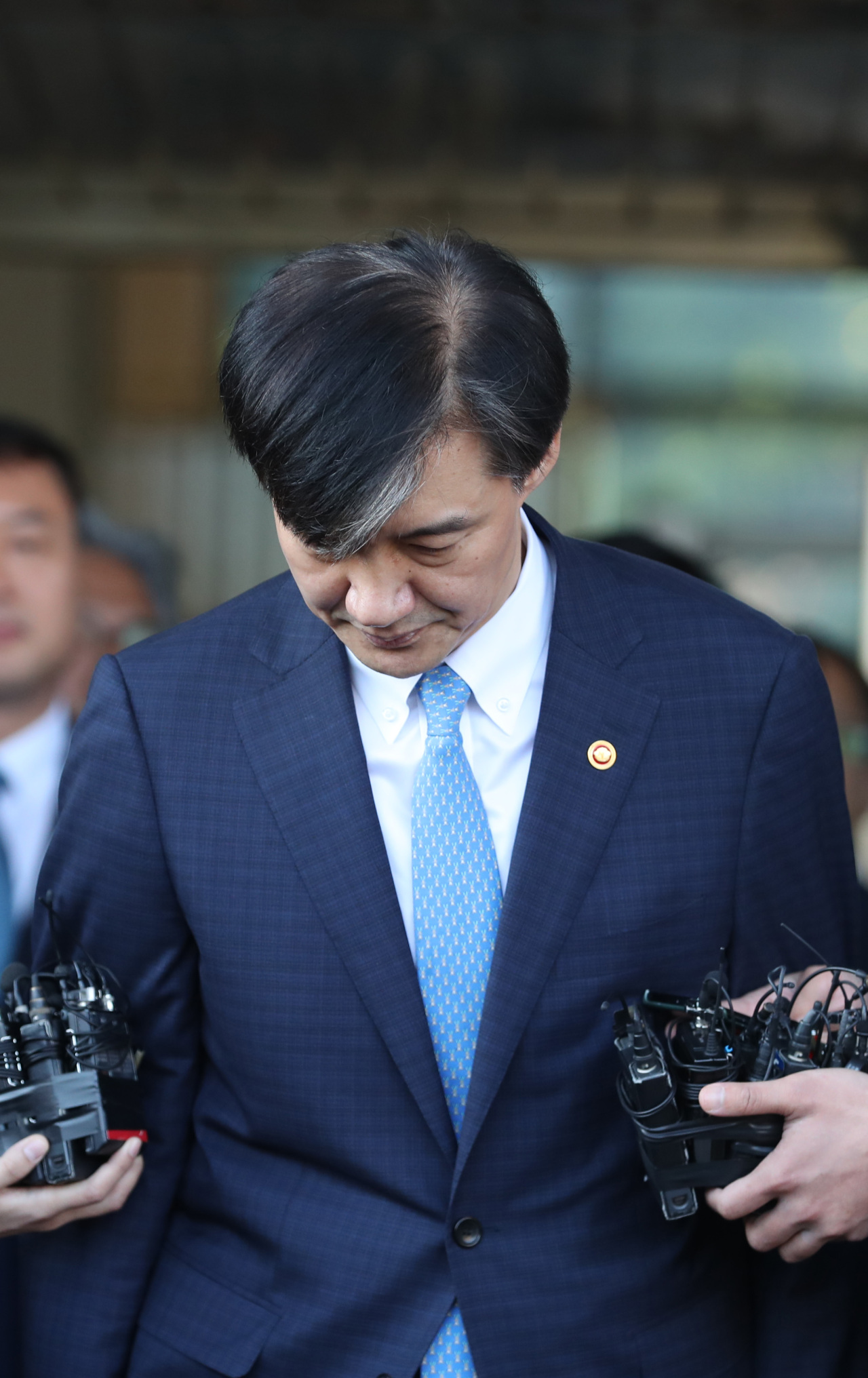 Cho resigned as justice minister in a statement released 2 p.m. Monday. (Yonhap)