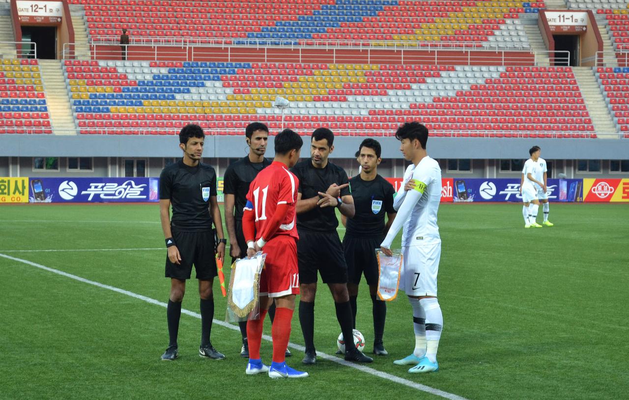 Men's World Cup qualifier match held Tuesday in Pyongyang (Yonhap)