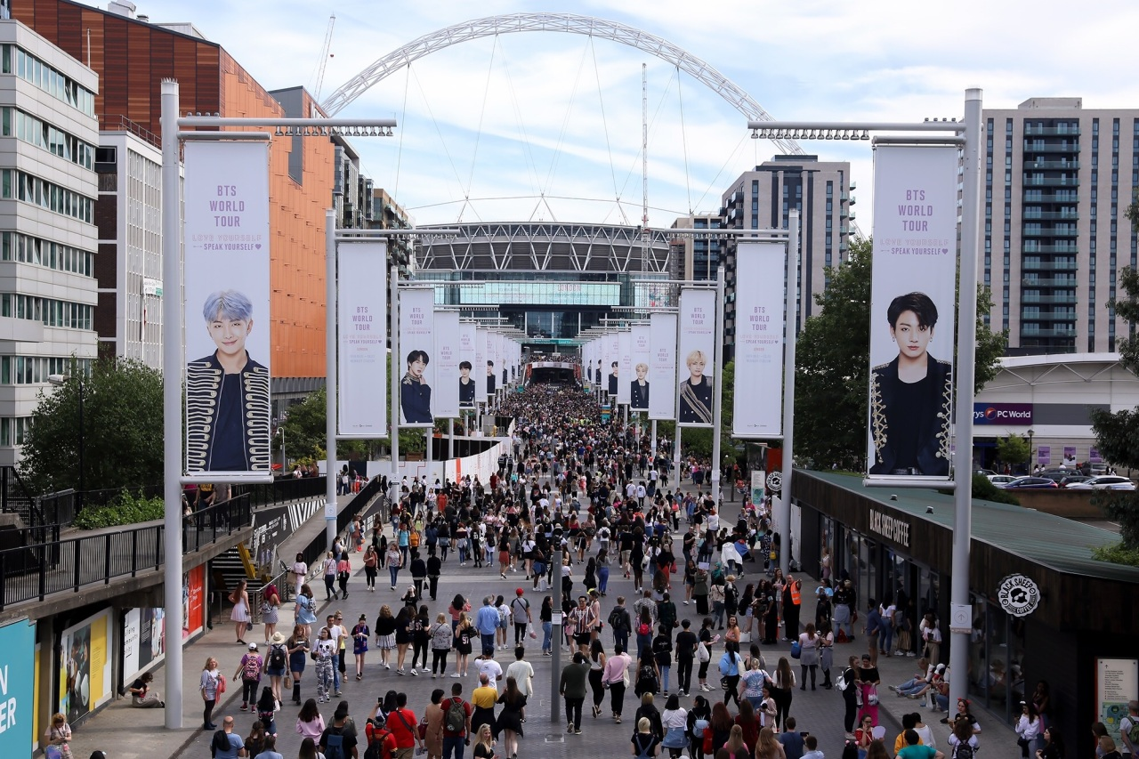 On the day of BTS` Wembley Stadium concert in London (Big Hit Entertainment)