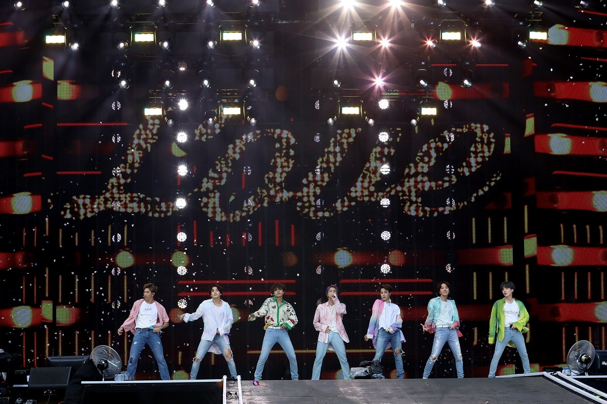 BTS performs at Yanmar Stadium Nagai in Osaka, Japan (Big Hit Entertainment)