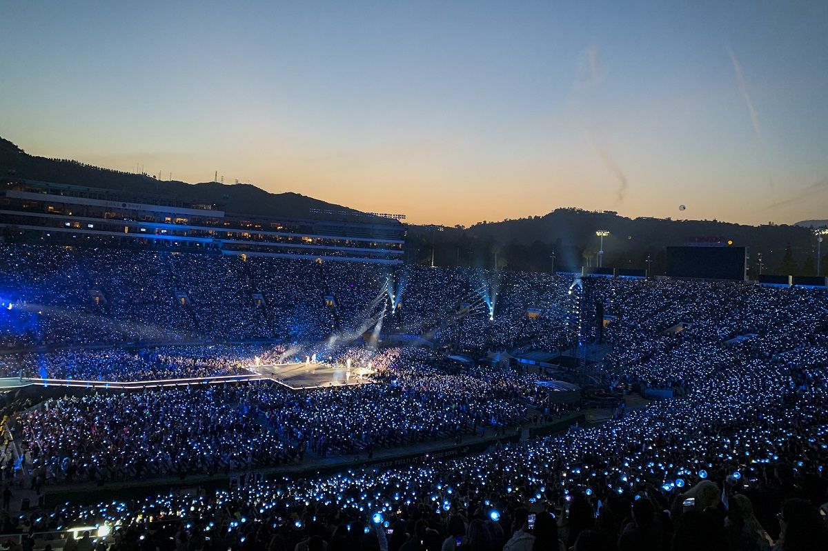 BTS at Rose Bowl Stadium (Big Hit Entertainment)
