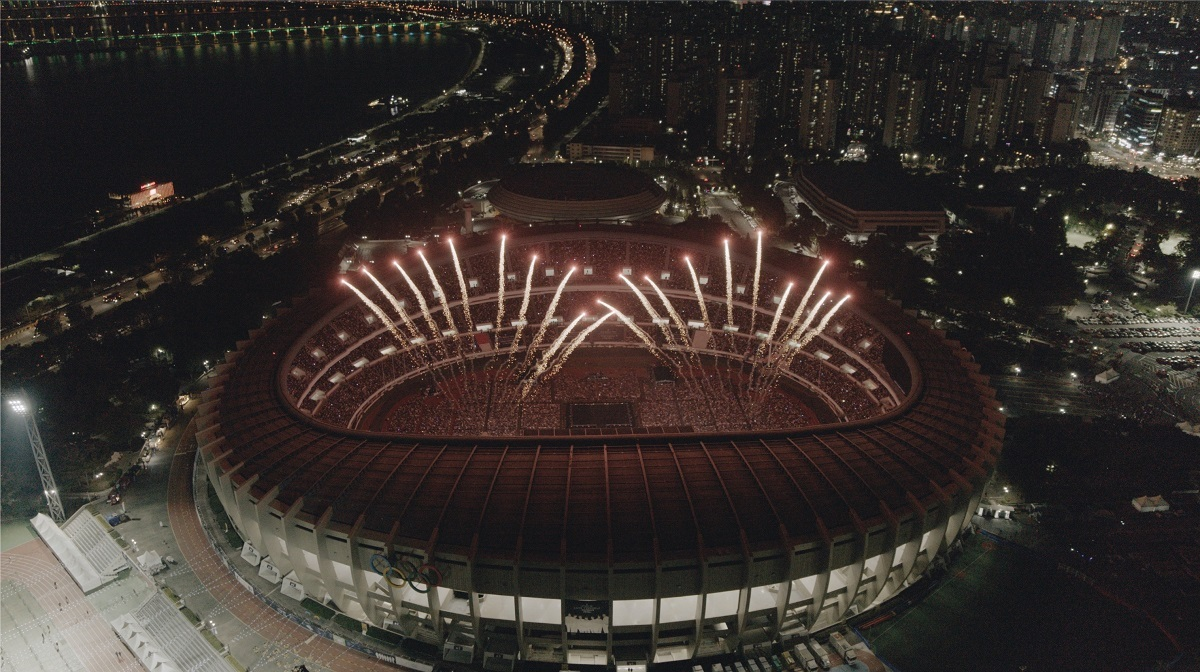 Fireworks at BTS concert (Big Hit Entertainment)