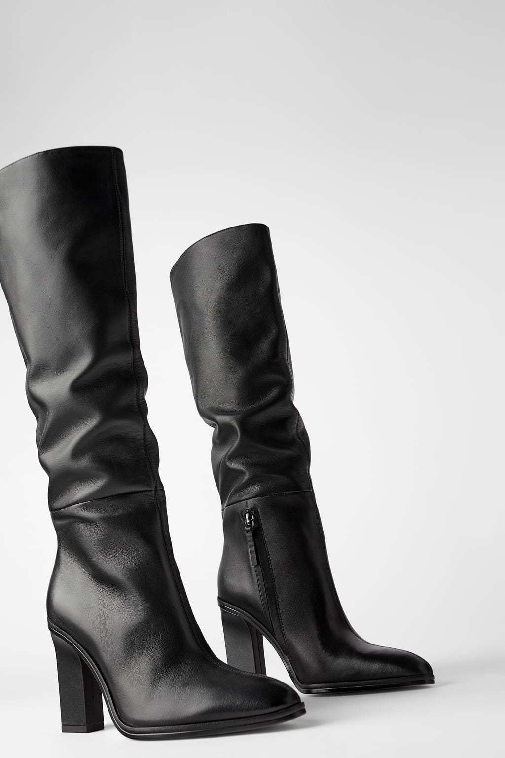 Zara's slouchy leather boots