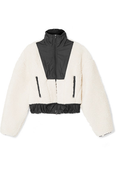 Phillip Lim's cropped fleece bomber jacket
