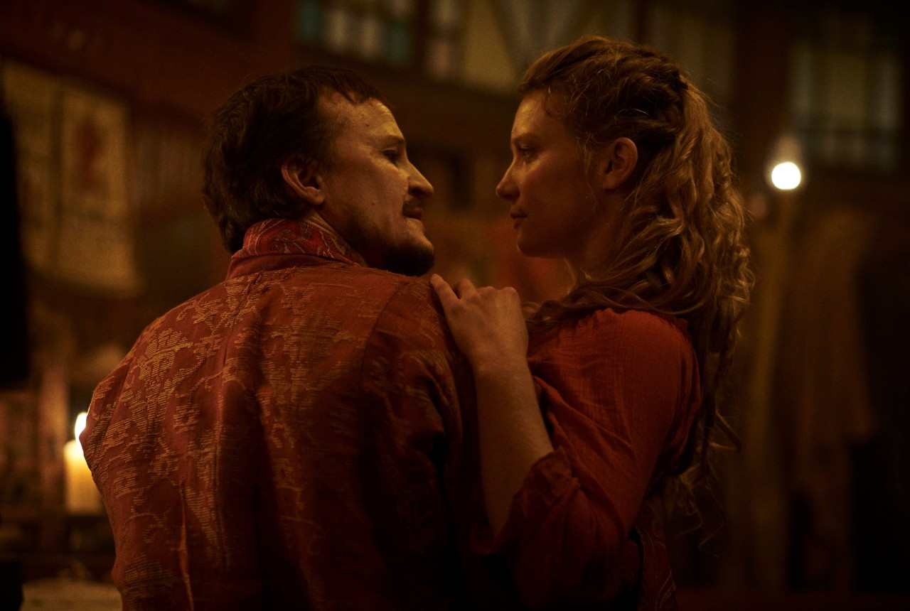 "Mia Wasikowska (right) and Damon Herriman star in ""Judy and Punch."" (BIFAN)"