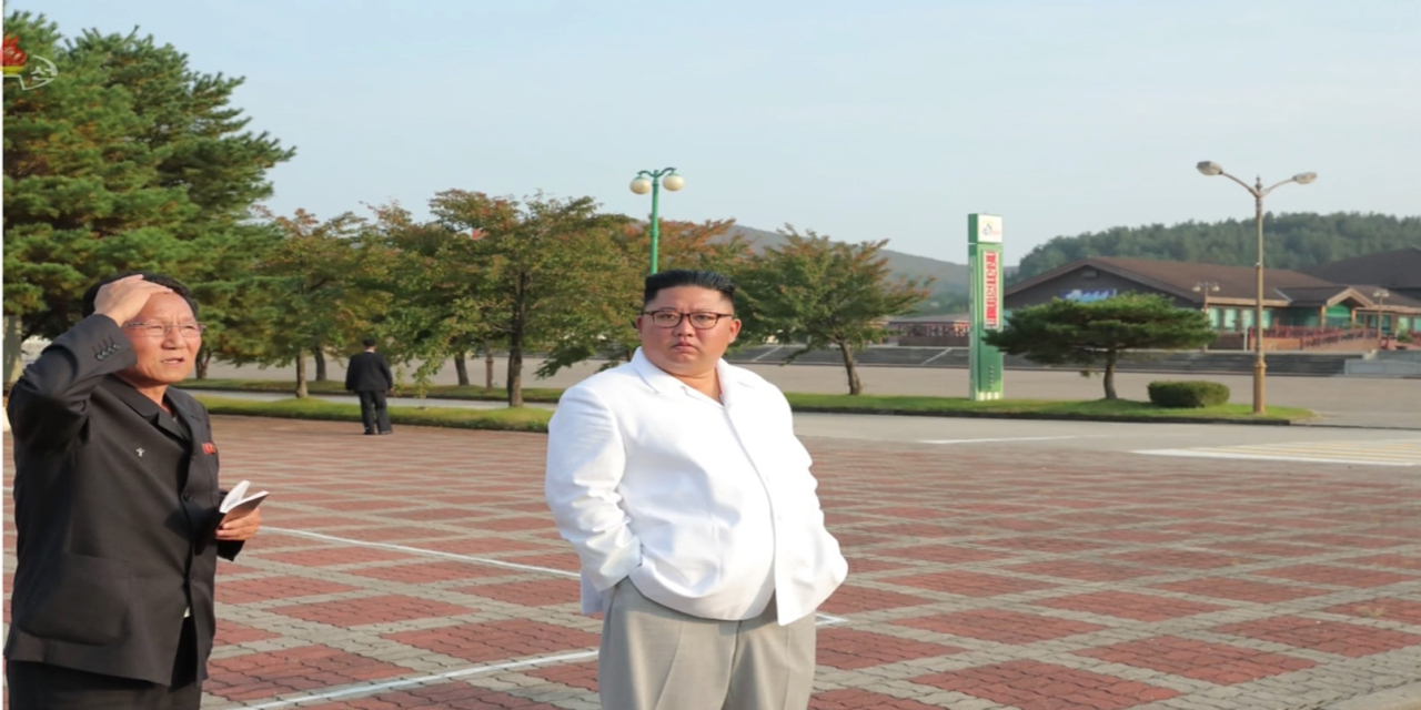 Footage released by Korean Central Television on Oct. 23 shows North Korean leader Kim Jong-un inspecting the Kumgangsan tourism area. (Yonhap)