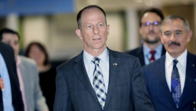 David Stilwell, US assistant secretary of state for East Asian and Pacific, arrives at Incheon International Airport in South Koreaon Nov. 5.(Yonhap)