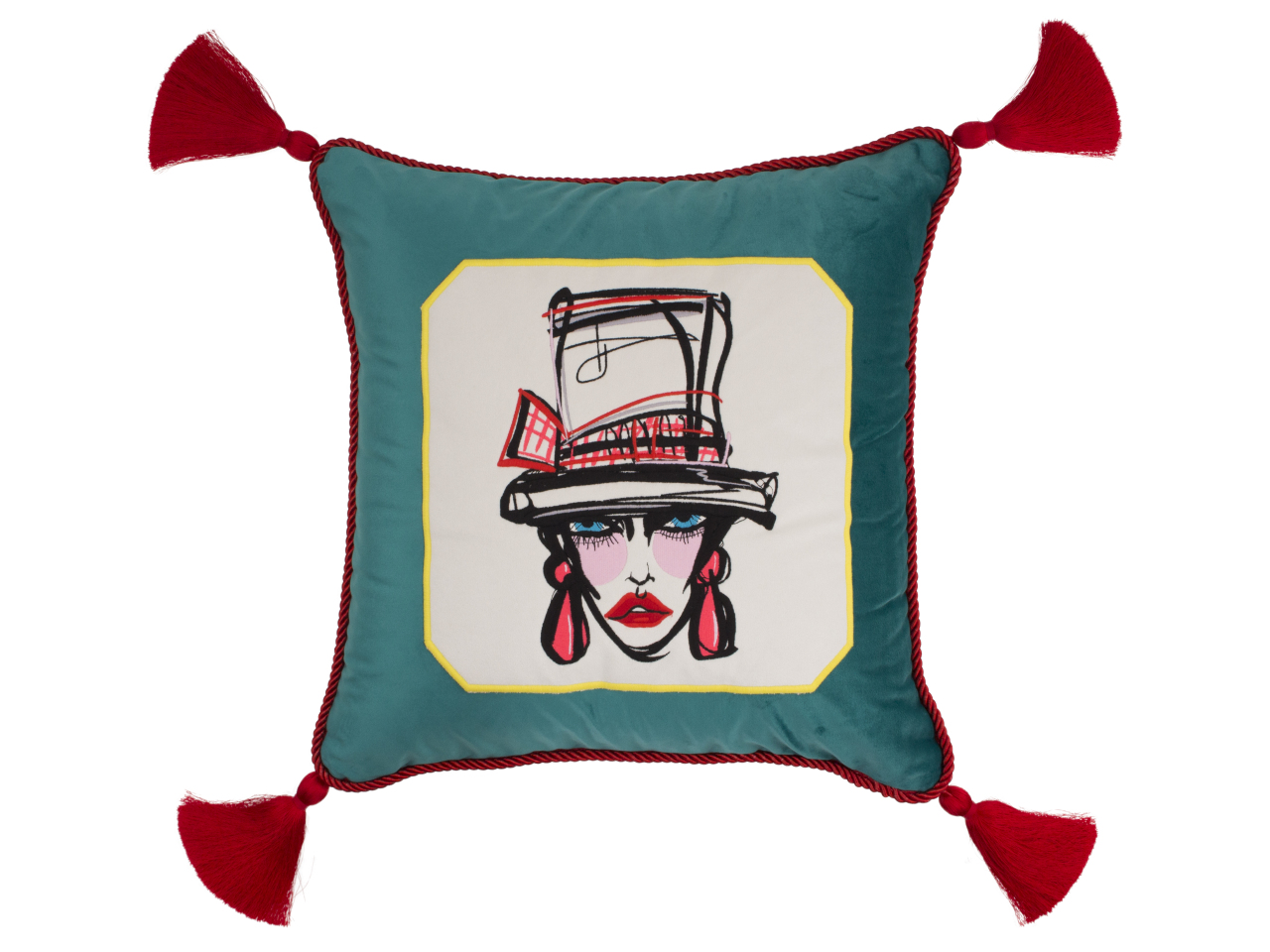 Cushion printed with character named Madame Victoire, created by Yi Privee (Yido)