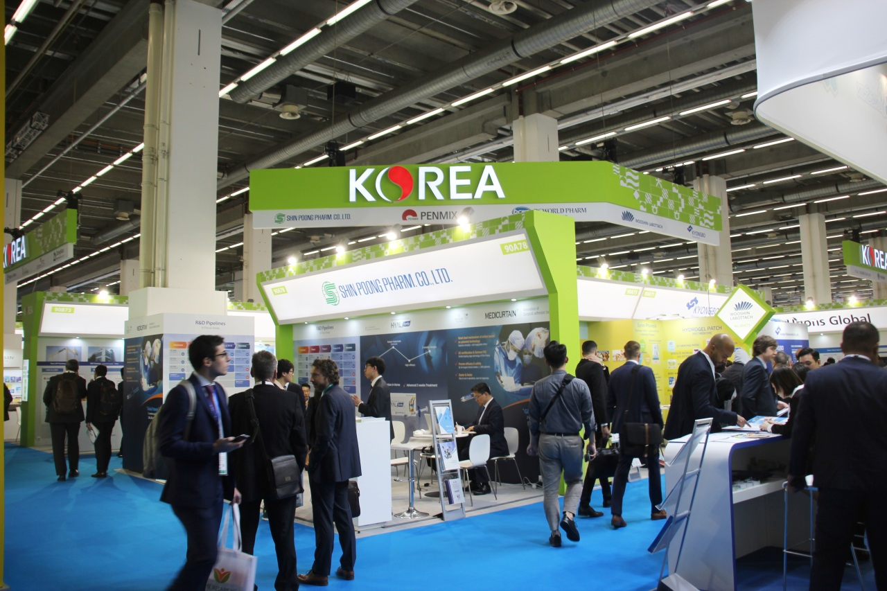 Korea Pavillion at CPhI Worldwide 2019 in Frankfurt, Germany (Lim Jeong-yeo/The Korea Herald)