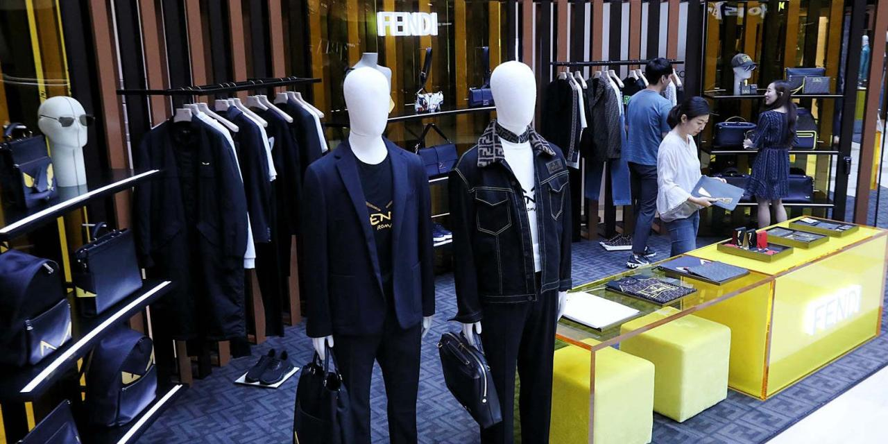 A Fendi menswear store at Lotte Department Store in Seoul (Lee Sun-young/The Korea Herald)