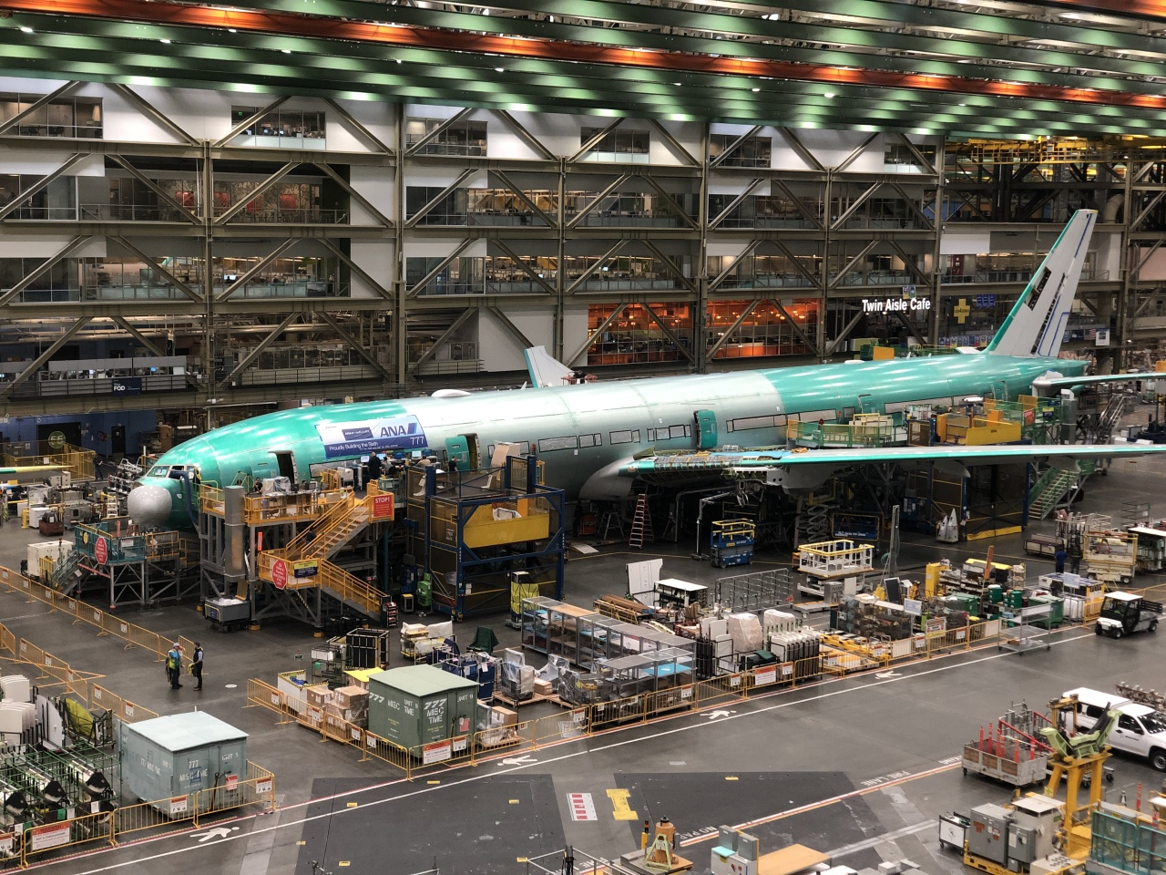 Inside Boeing's Everett Factory in the state of Washington (Kim Da-sol/The Korea Herald)