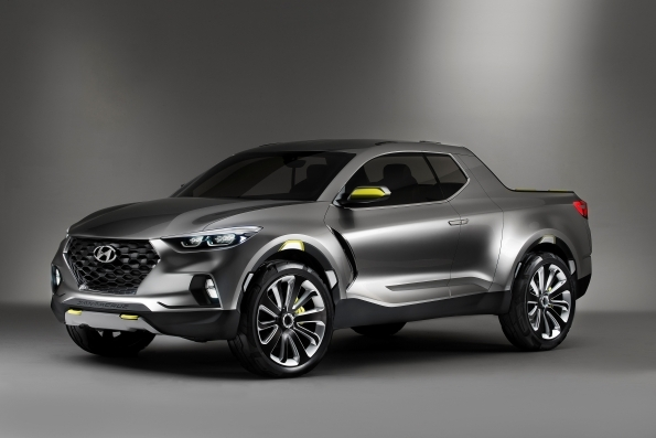 The Santa Cruz concept vehicle is shown at the 2015 Detroit International Auto Show. (Hyundai Motor)