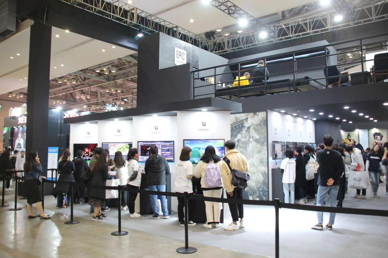 Epic Games Korea booth at G-Star 2019 (Lim Jeong-yeo/The Korea Herald)