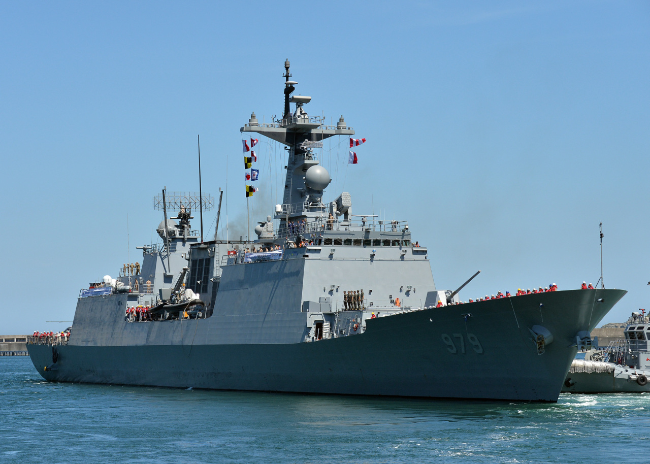 The Navy's destroyer the Kang Gam Chan (Yonhap)
