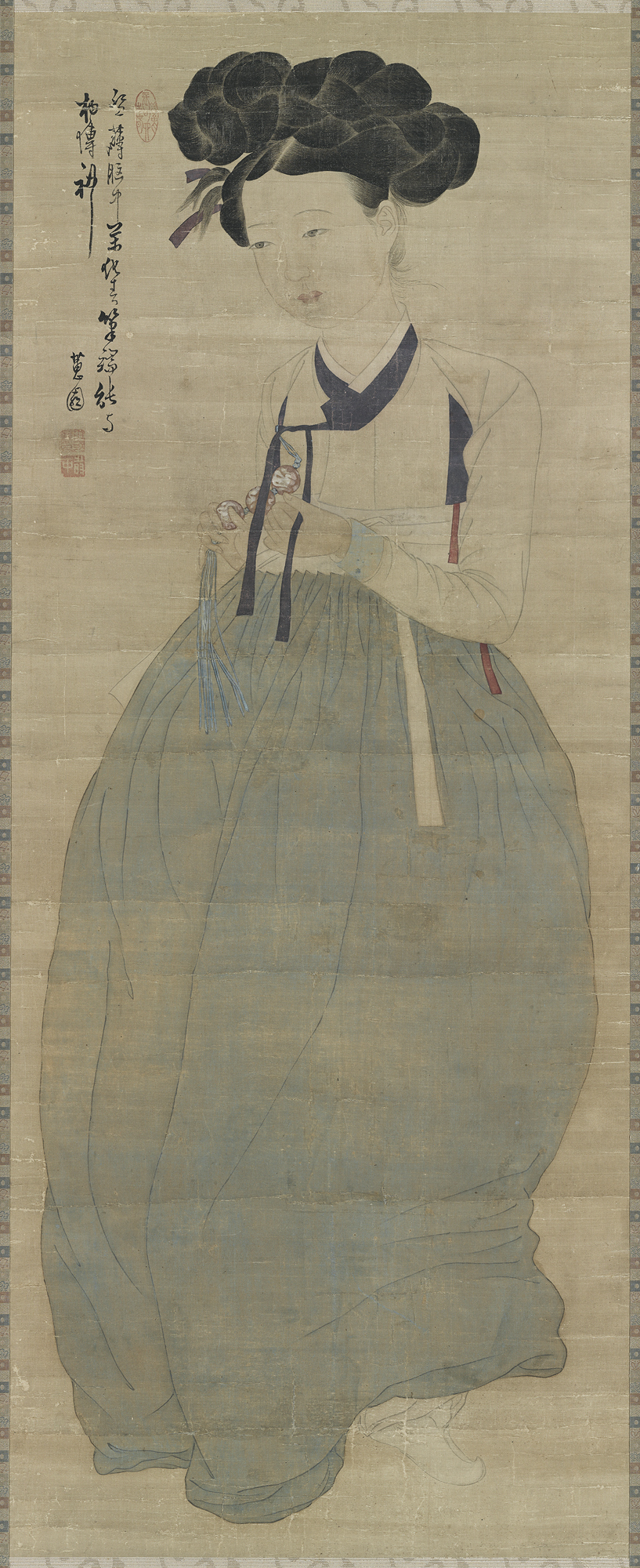 "Shin Yun-bok's ""Portrait of a Beauty"" (Cultural Heritage Administration)"