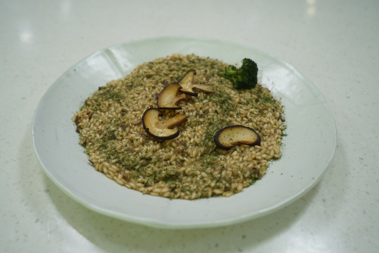 Mushroom risotto (Korean Food Promotion Institute)
