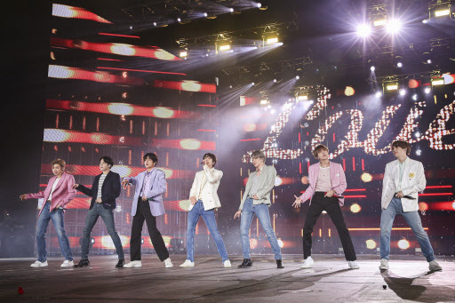 BTS performs in concert in October (Yonhap)