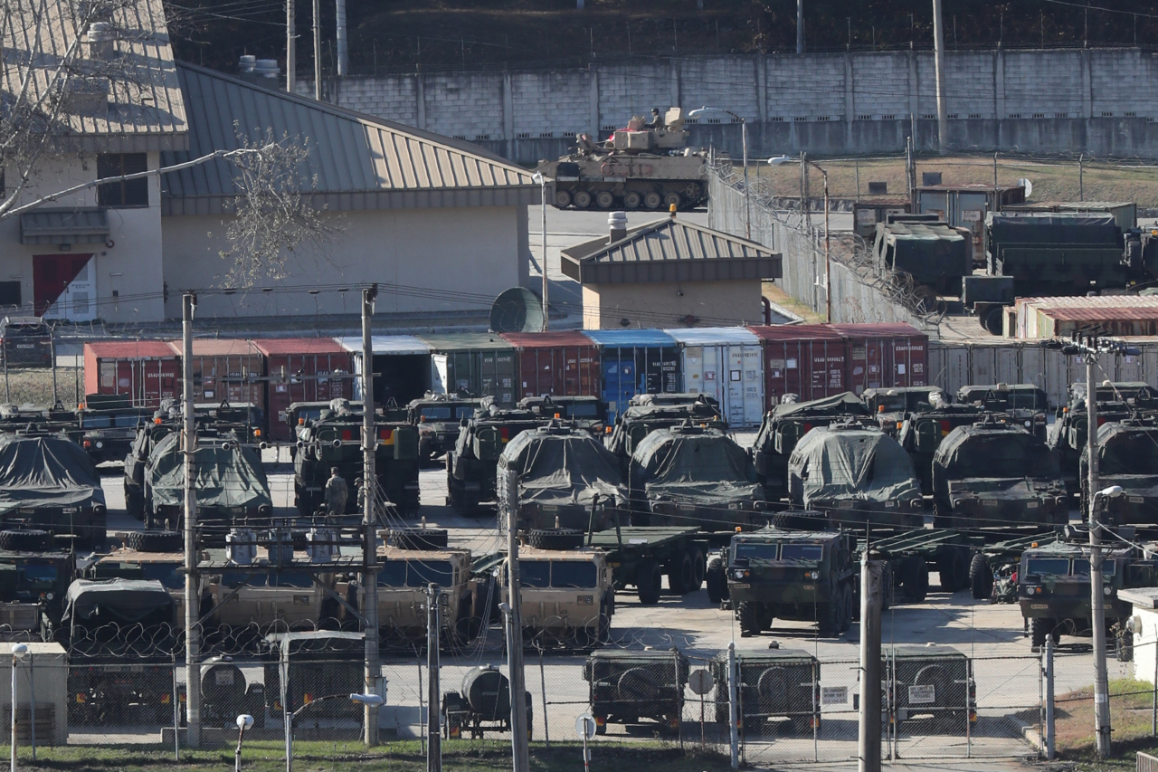 Camp Casey in Dongducheon, Gyeonggi Province. (Yonhap)