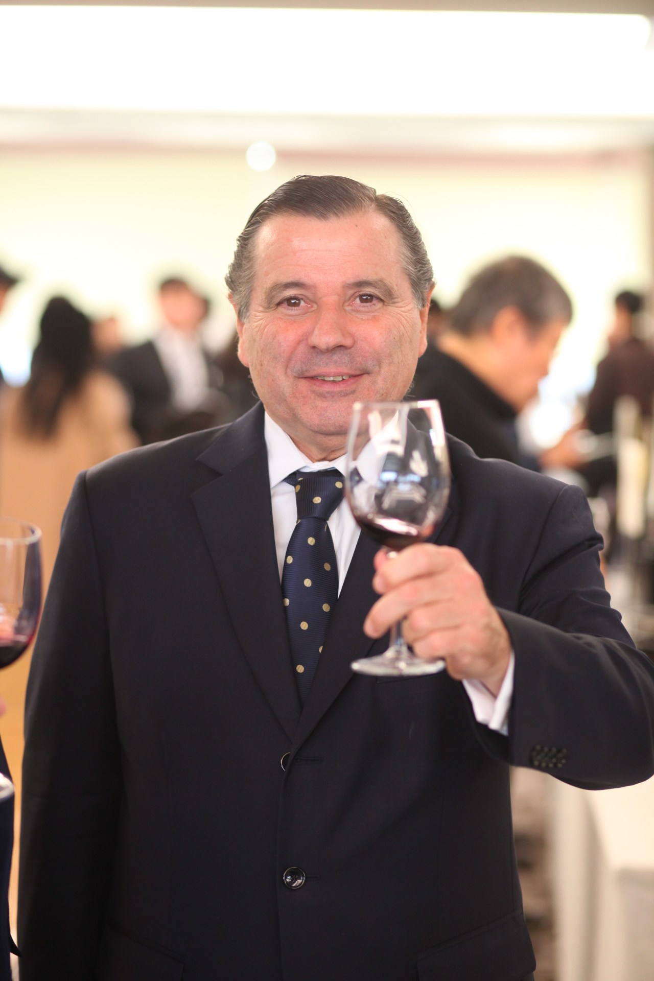 Argentine Ambassador to South Korea Alfredo Carlos Bascou poses at the 9th Wines of Argentina event on Tuesday in central Seoul. (Embassy of Argentina in Seoul)
