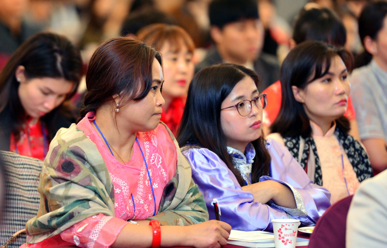Attendees are pictured at the 2019 Multicultural Families Network Conference, held at the Busan Tourism Organization Arpina on Tuesday. (Park Hyun-koo/The Korea Herald)