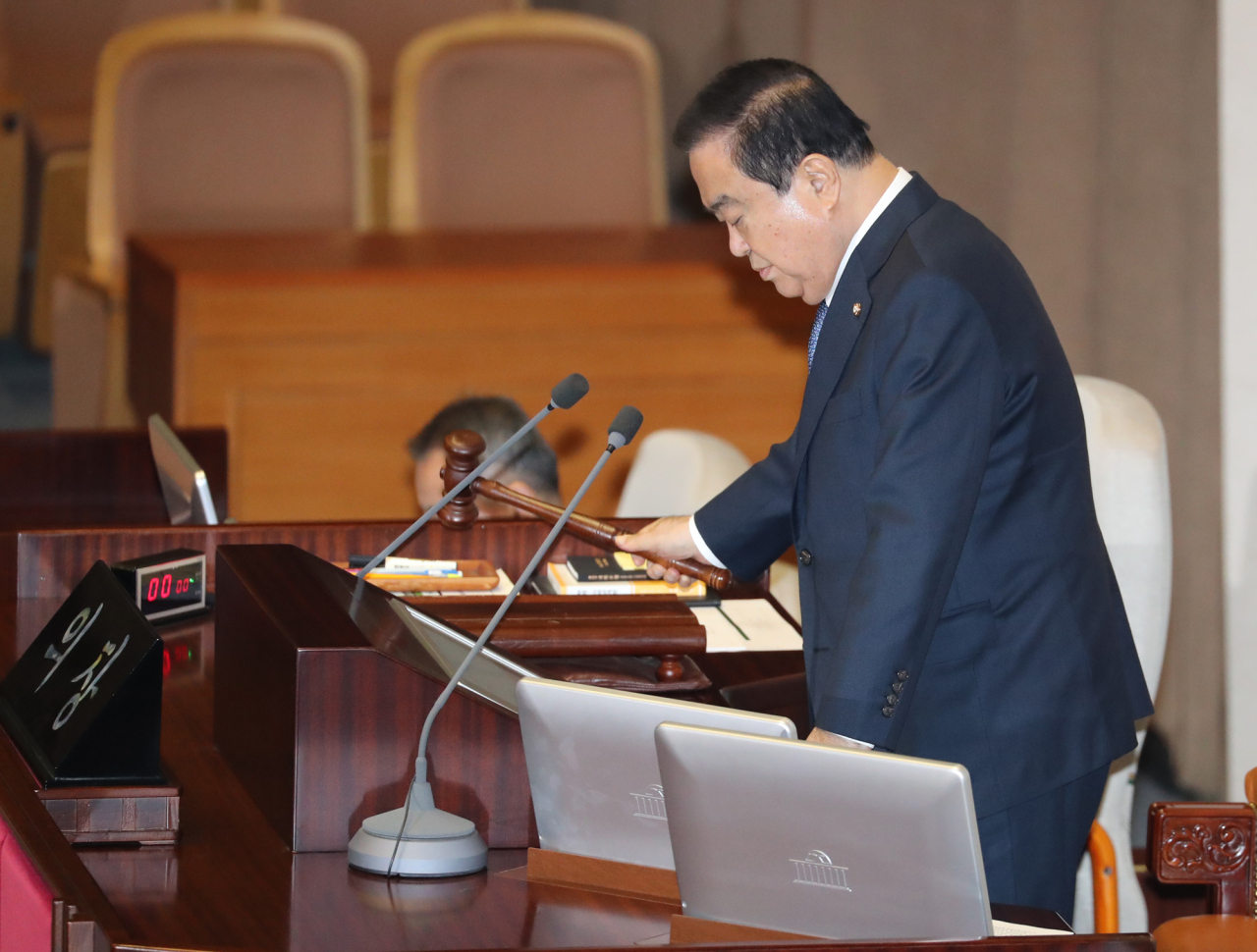 National Assembly Speaker Moon Hee-sang (Yonhap)