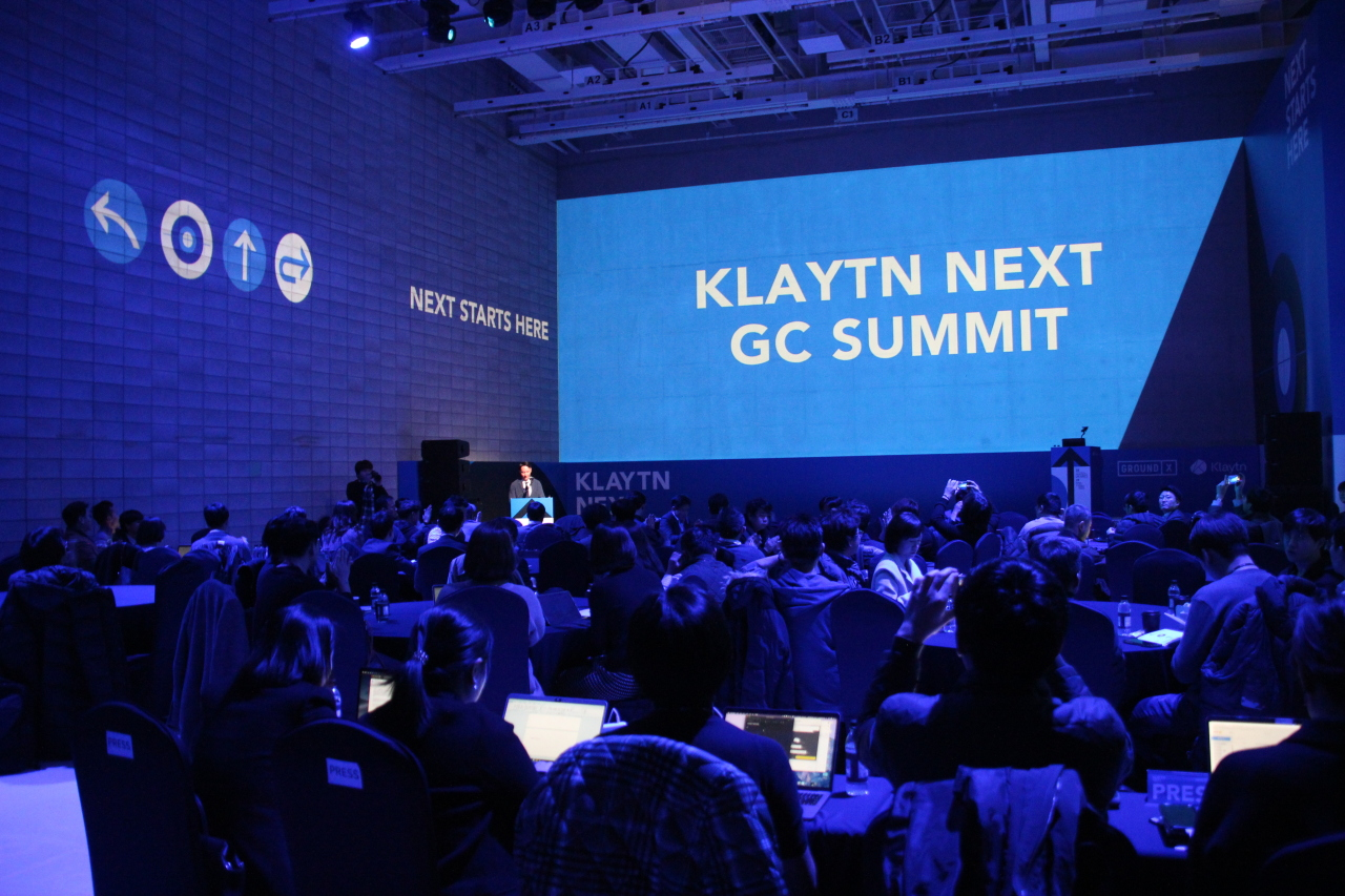 The first Klaytn Governance Council Summit takes place Thursday in Nonhyeon-dong, Seoul (Lim Jeong-yeo/The Korea Herald)