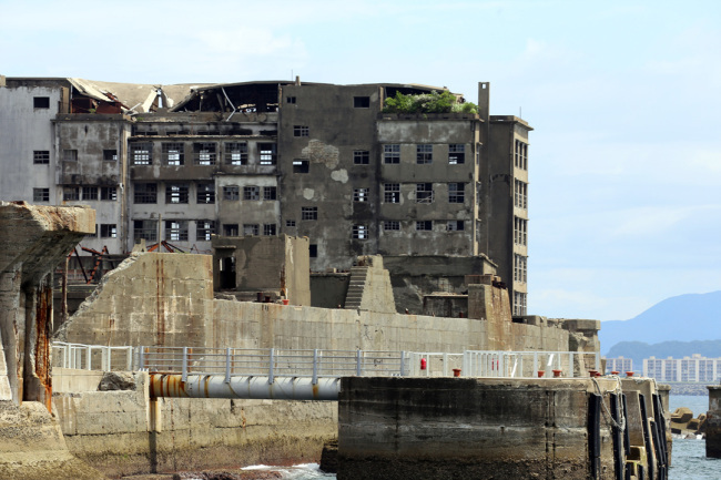 Hashima Island, also known as Gunhamdo in Korean, is located 15 kilometers from the city of Nagasaki, southern Japan. (Yonhap)