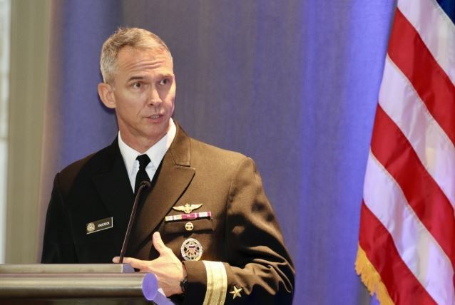 Deputy director for political-military affairs for Asia on the US Joint Chiefs of Staff Rear Adm. Jeffrey Anderson (Yonhap)