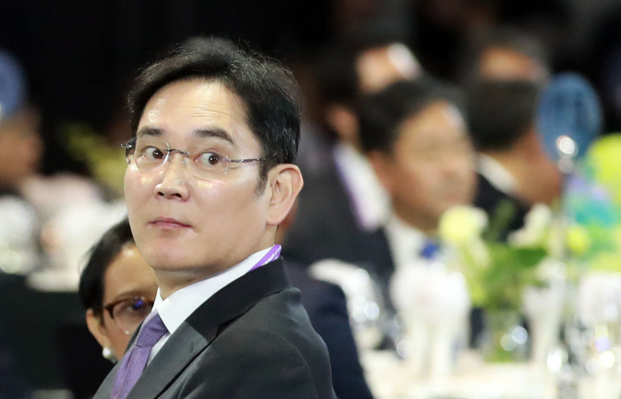 Samsung Electronics Vice Chairman Lee Jae-yong attends the South Korea-ASEAN summit welcome dinner on Nov. 25 in Busan. (Yonhap)
