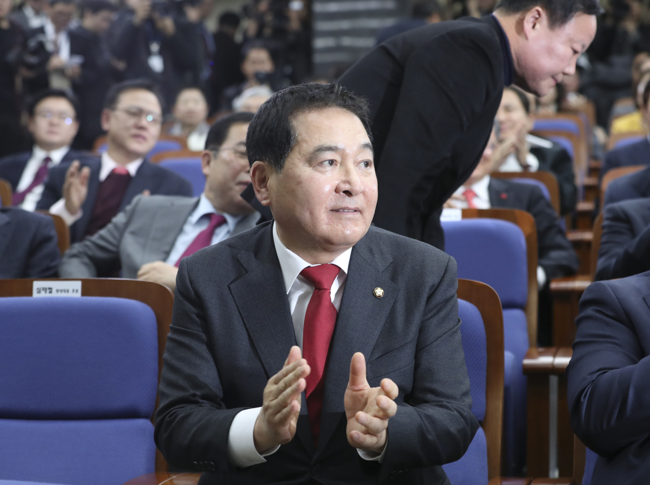 New Floor Leader Shim Jae-cheol of the Liberty Korea Party (Yonhap)