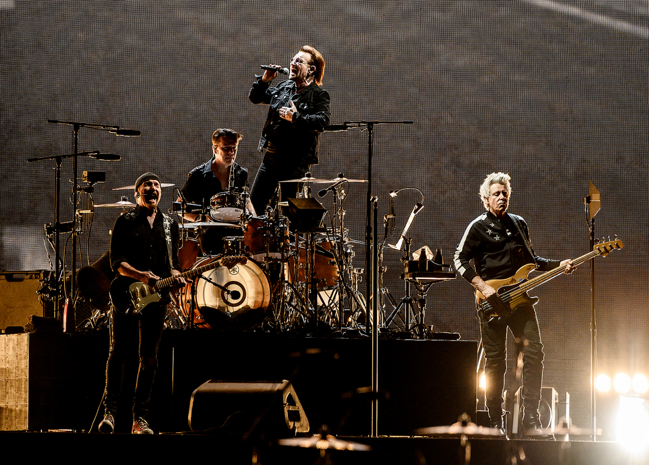 U2 performs at Gocheok Sky Dome in Seoul on Sunday. (Live Nation)