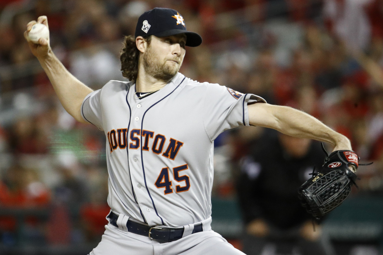 Right-handed pitcher Gerrit Cole (AP-Yonhap)