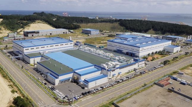 Posco Energy`s fuel cell manufacturing plant in Pohang, North Gyeongsang Province