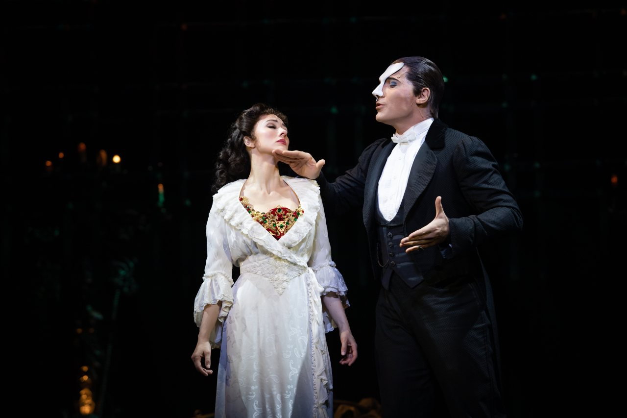 "A scene from ""The Phantom of the Opera"" shows Christine and the phantom singing together. (S&Co)"