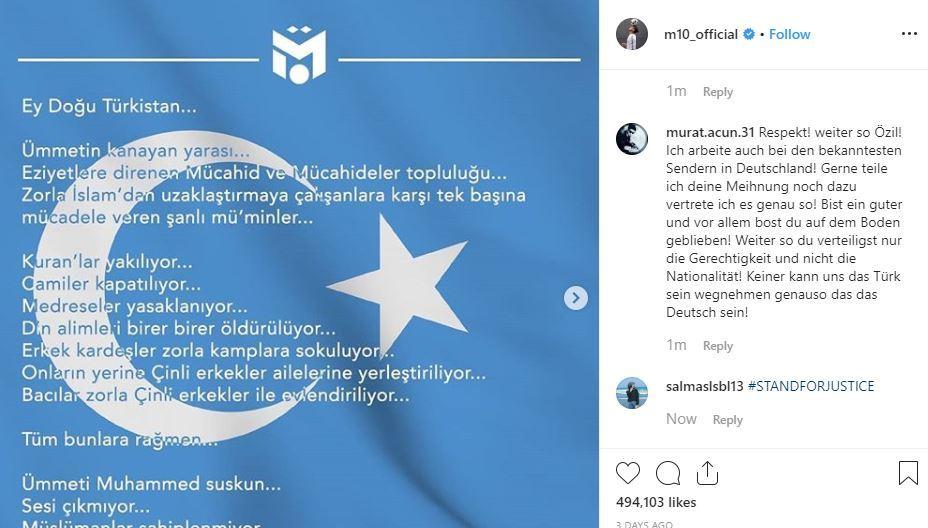 (Ozil's Instagram)