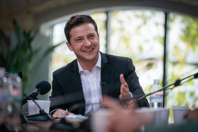 Ukraine's President Volodymyr Zelenskyy at a press meet in Kyiv on Oct. 10. (Presidential Office website)