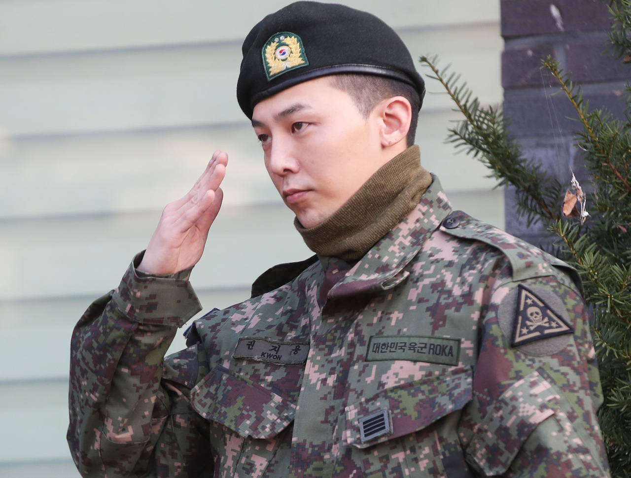 Big Bang's leader G-Dragon was discharged from military in October. (Yonhap)