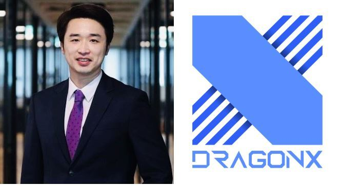 ATU Partners Chief Executive Officer Park Jung-moo (left) and a logo of League of Legends team DRX
