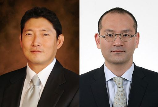 Hyosung Chairman Cho Hyun-joon (left) and Daelim Chairman Lee Hae-mook