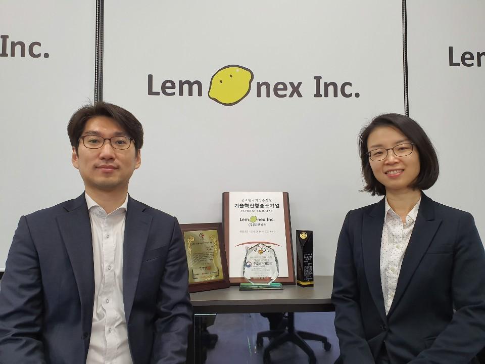 Lemonex's CEO Won Cheol-hee (left) and CTO Min Dal-hee (Lemonex)