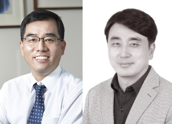 CJ Cheiljedang CEO Kang Shin-ho (left) and CJ OliveNetworks CEO Cha In-hyok CJ Group