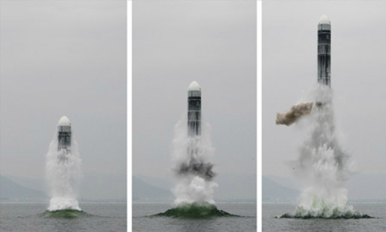 North Korea tested what it claimed to be its new SLBM Pukguksong-3 in waters off Wonsan, Gangwon Province, on Oct. 2.