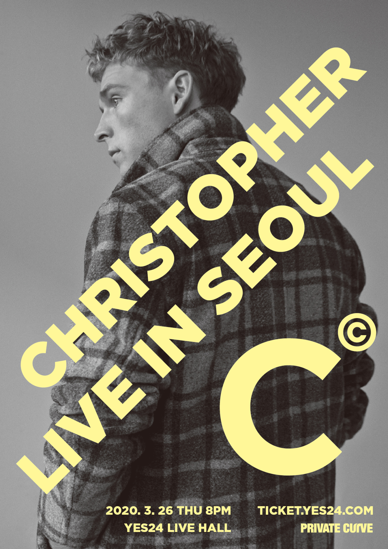 """Christopher Live in Seoul"" poster (Private Curve)"