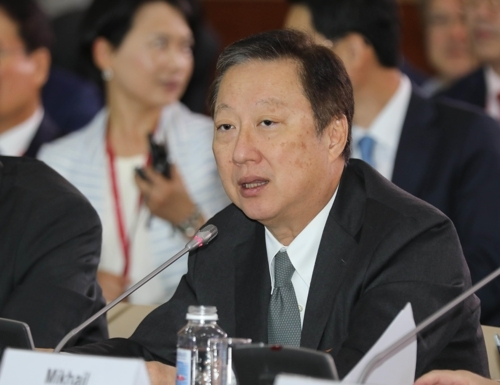 Korea Chamber of Commerce and Industry Chairman Park Yong-maan (Yonhap)