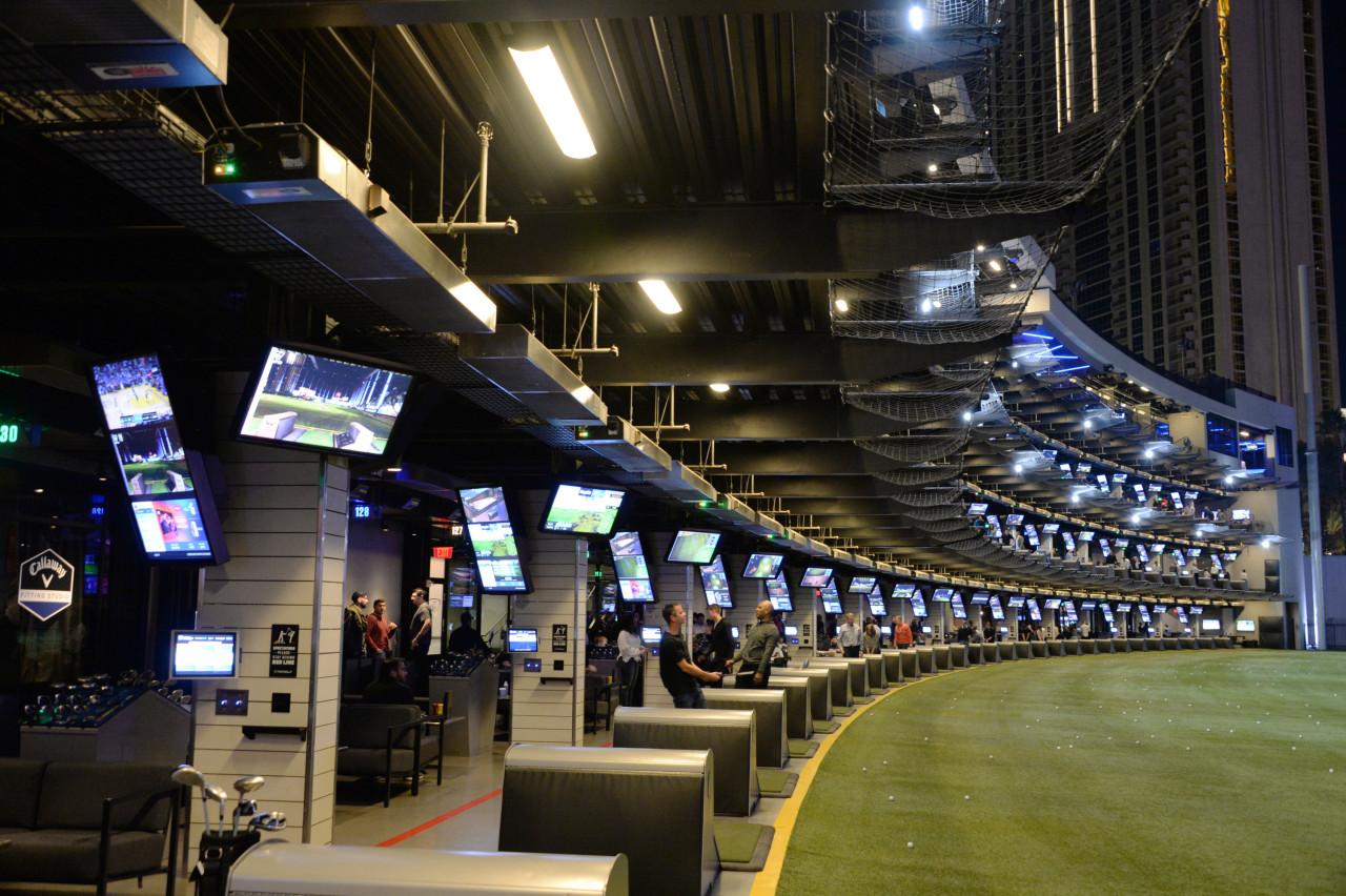 Golf zone of Topgolf in Las Vegas (LG Electronics)
